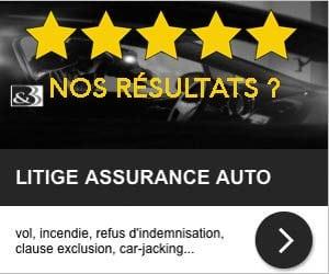 nos résultats litiges assurance, contentieux assurance de véhicules, jugements assurances automobile