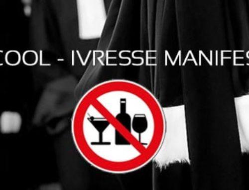 Alcool au volant & ivresse manifeste