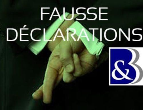 Fausses déclarations et déchéance de garantie