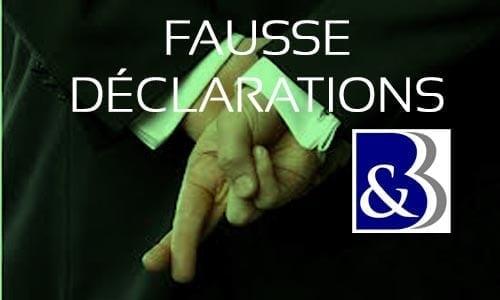 fausses déclarations, fausse déclaration, déchéance des garanties, nullité de contrat, refus indemnisation