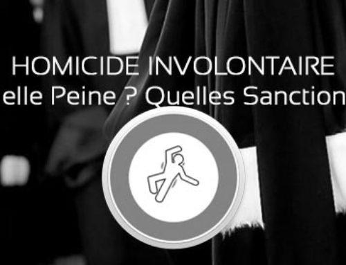 Quelle peine ou quelles sanctions en matière d'homicide involontaire
