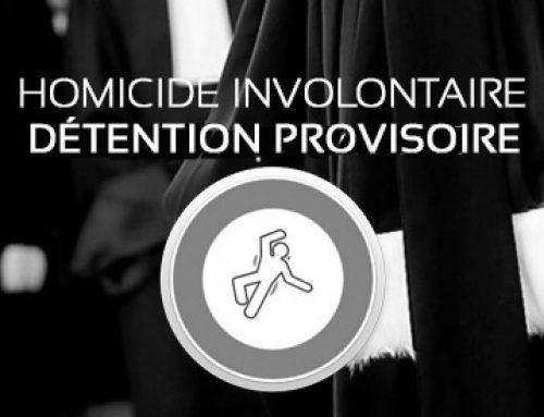 Placé en détention provisoire pour homicide involontaire