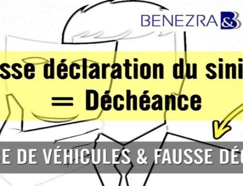 Fausse déclaration d'un sinistre et assurances de véhicules : déchéance de garantie