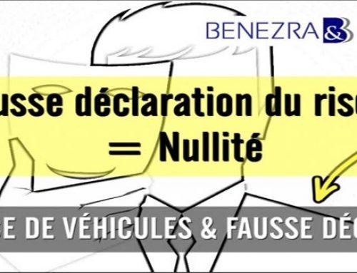 Fausse déclaration d'un risque et assurance de véhicules : nullité