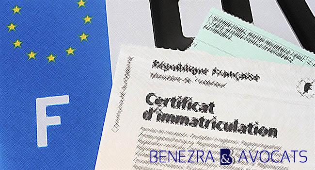 carte grise, certificat d'immatriculation, véhicule propriété